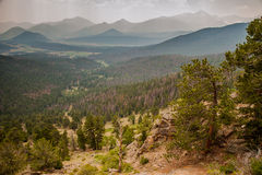 Rocky Mountain Landscape Stock Image