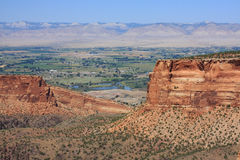 Expansive view from the Colorado National Monument. During the summer Stock Photography