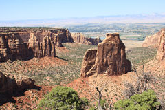 Expansive view from the Colorado National Monument. During the summer Royalty Free Stock Images