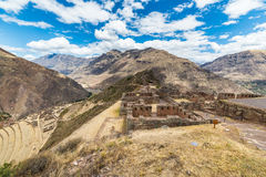 Expansive view of the Sacred Valley, Peru from Pisac Royalty Free Stock Image