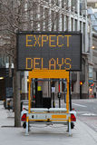 Expect delays Royalty Free Stock Image