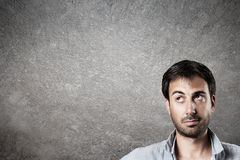 Expectant man. Royalty Free Stock Images