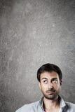 Expectant man. Stock Photo