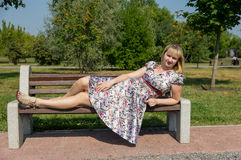 Expectant mother in the Park Royalty Free Stock Photography