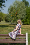 Expectant mother in the Park Royalty Free Stock Photo