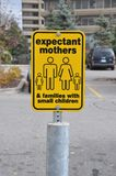Expectant mother sign Royalty Free Stock Image
