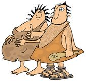 Expectant Neanderthals Royalty Free Stock Images