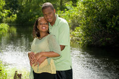 Expectant Parents. Man and Pregnant Woman Expecting Baby Royalty Free Stock Photography