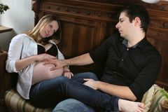 Expectant parents Royalty Free Stock Photography