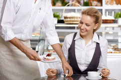 In expectation of a dessert Royalty Free Stock Photography