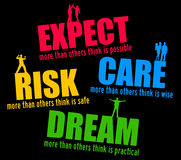 Expectation and dream. Concept for expecting, risking, caring and dreaming Stock Photos