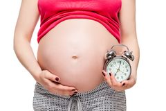 Expectation of a future baby concept photo Royalty Free Stock Photo