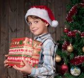 Expectativa de la Navidad Foto de archivo