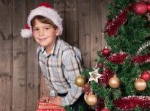 Expectativa de la Navidad Imagen de archivo
