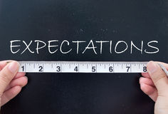 Expectativas de medición Imagen de archivo libre de regalías