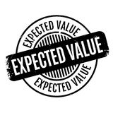 Expected Value rubber stamp Royalty Free Stock Photos