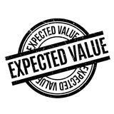 Expected Value rubber stamp Stock Image