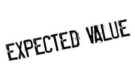 Expected Value rubber stamp Stock Photo