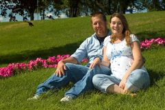 Expecting couple Royalty Free Stock Images