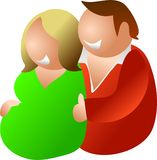 Expecting couple. Couple expecting a baby Royalty Free Stock Photos