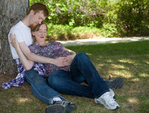 Expecting First Child Stock Photo