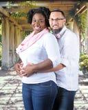 Expecting Mixed Race Couple Stock Photo