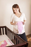 Expecting Mother Anxiously Awaiting her baby stock photography