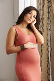Expecting Mother Holding Belly Stock Photography