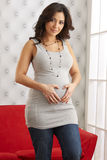 Expecting Mother Holding Belly Royalty Free Stock Image