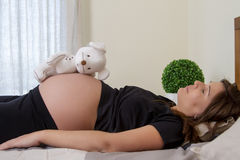 Expecting pregnant woman Stock Image
