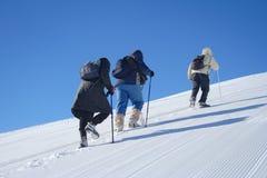 Expedição alpina foto de stock