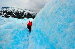 Expedición del glaciar Foto de archivo libre de regalías