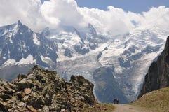 Expedición Mont Blanc Imagenes de archivo