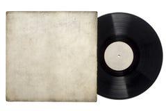 Expediente de disco de larga duración del vinilo foto de archivo