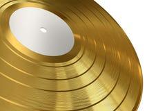 Expediente de gramófono del oro Foto de archivo libre de regalías