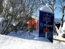 Expediente de la nieve en invierno fotografía de archivo libre de regalías