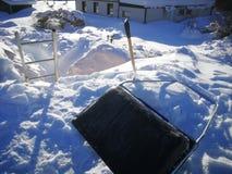 Expediente de la nieve en Suecia imágenes de archivo libres de regalías