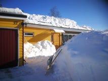 Expediente de la nieve en Suecia imagenes de archivo