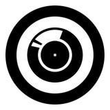 Expediente de vinilo Icono sano retro del negro del portador en el ejemplo del vector del círculo aislado libre illustration