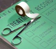 Expediente del tratamiento médico Foto de archivo libre de regalías