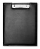 Expediente negro del cuero Fotos de archivo libres de regalías