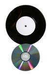 Expediente y CD de vinilo Imágenes de archivo libres de regalías