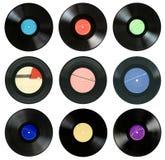 Expedientes de gramófono Fotos de archivo libres de regalías