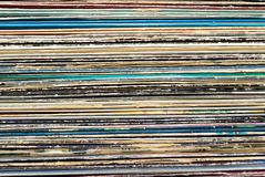 Expedientes de vinilo Fotografía de archivo libre de regalías