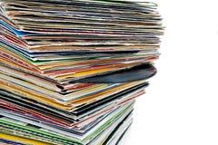 Expedientes de vinilo Imagen de archivo libre de regalías