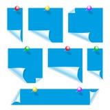 Expedientes del papel para el azul Foto de archivo libre de regalías