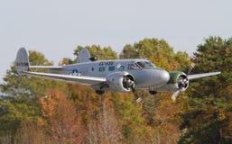 Expeditörflygplan för tappning C-45 Arkivbilder
