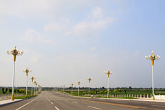 Expedite road in broad field of vision. North china Stock Image
