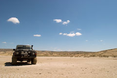 Expedition. 4x4 in the desert in Kazakhstan Royalty Free Stock Image