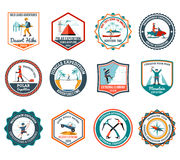 Expedition Emblems Set Royalty Free Stock Images